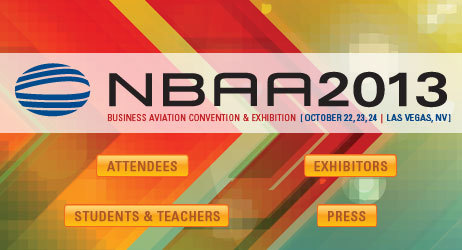 Meet us at NBAA2013 in Las Vegas on October 22-24