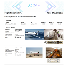Flight Quotation